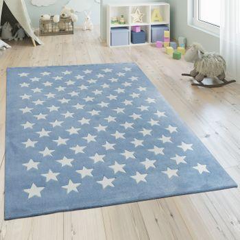 Polyacryl Teppich Sternenhimmel Pastell Blau