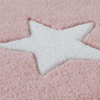 Alfombra Acrílica Cielo Estrellado En Rosa Pastel  – Bild 3