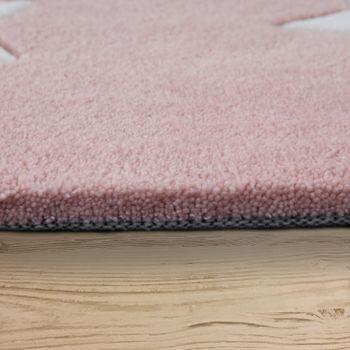Polyacryl Teppich Sternenhimmel Pastell Rosa  – Bild 2