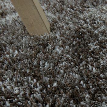 Hochflorteppich Super Soft Grau Handgefertigt – Bild 3