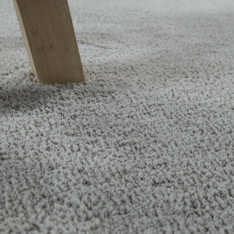 handgefertigter shaggy teppich einfarbig beige hochflor teppiche. Black Bedroom Furniture Sets. Home Design Ideas