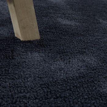 Handgefertigter Shaggy Teppich Einfarbig Anthrazit – Bild 3