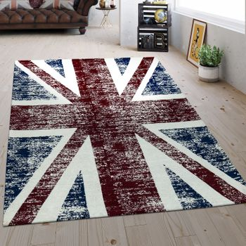 Flat Woven Rug Union Jack Multicolour