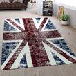Flat Woven Rug Union Jack Multicolour 001