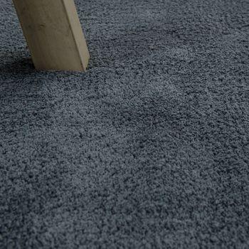 Handgemachter Teppich Super Soft Silber – Bild 3
