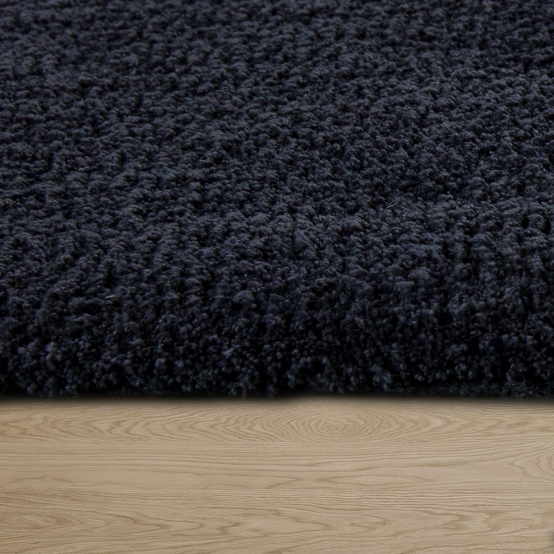 handgemachter teppich super soft anthrazit hochflor teppiche. Black Bedroom Furniture Sets. Home Design Ideas