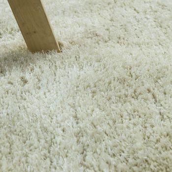Soft Shaggy Teppich Einfarbig Creme – Bild 3