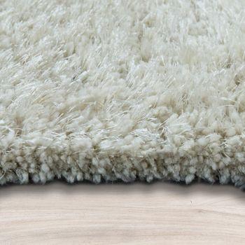 Soft Shaggy Teppich Einfarbig Creme – Bild 2