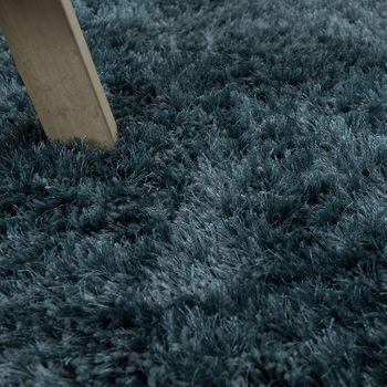 Soft Shaggy Teppich Einfarbig Petrol Blau – Bild 3