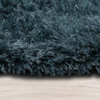 Soft Shaggy Teppich Einfarbig Petrol Blau – Bild 2