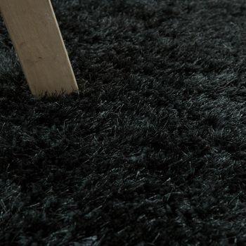 Soft Shaggy Teppich Einfarbig Anthrazit – Bild 3
