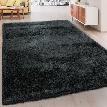 Soft Shaggy Rug One Colour Anthracite