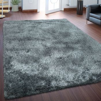 Deep Pile Rug Super Soft Grey Handmade