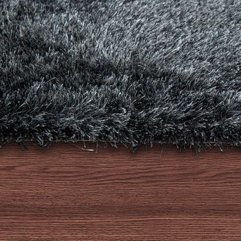Hochflorteppich Super Soft Anthrazit Handgemacht – Bild 2