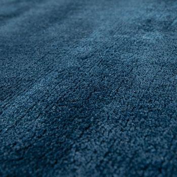 Kurzflor Teppich Unifarben Blau – Bild 3