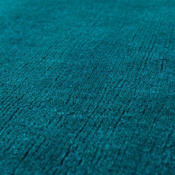 Kurzflor Teppich Unifarben Petrol – Bild 3