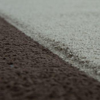 Moderner Kurzflor Teppich Bordüre Creme – Bild 3