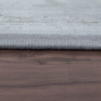 Laagpolig vloerkleed 3D-effect rand pink – Bild 2