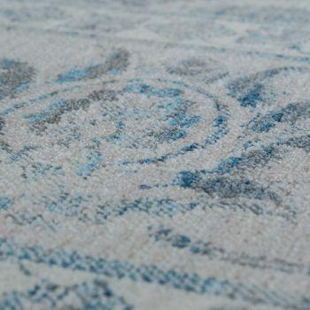 Orient Teppich Vintage Optik Bordüre Grau – Bild 3