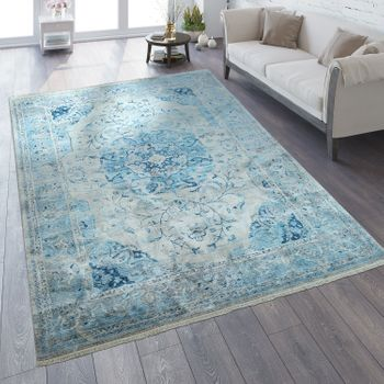 Oriental Rug Vintage Look Ornaments Blue – Bild 1