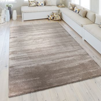 Short Pile Rug One Colour Beige