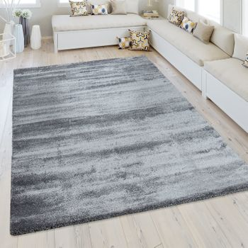 Short Pile Rug One Colour Grey