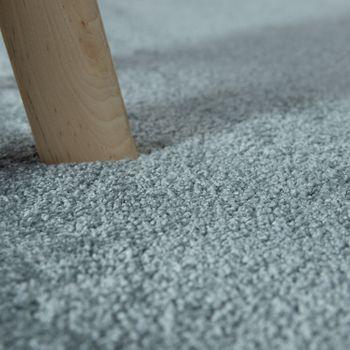 Kurzflor Teppich Einfarbig Pastell Blau – Bild 3