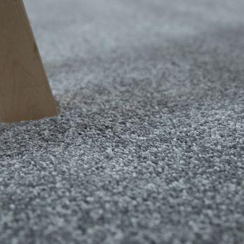 Kurzflor Teppich Einfarbig Silber Grau – Bild 3