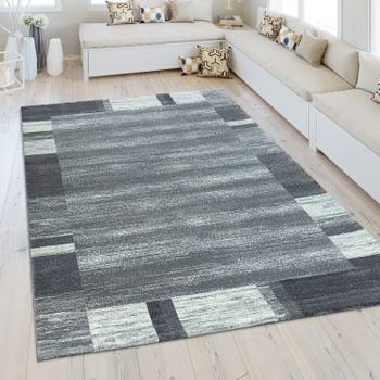 Heatset Rug Border In Silver Grey