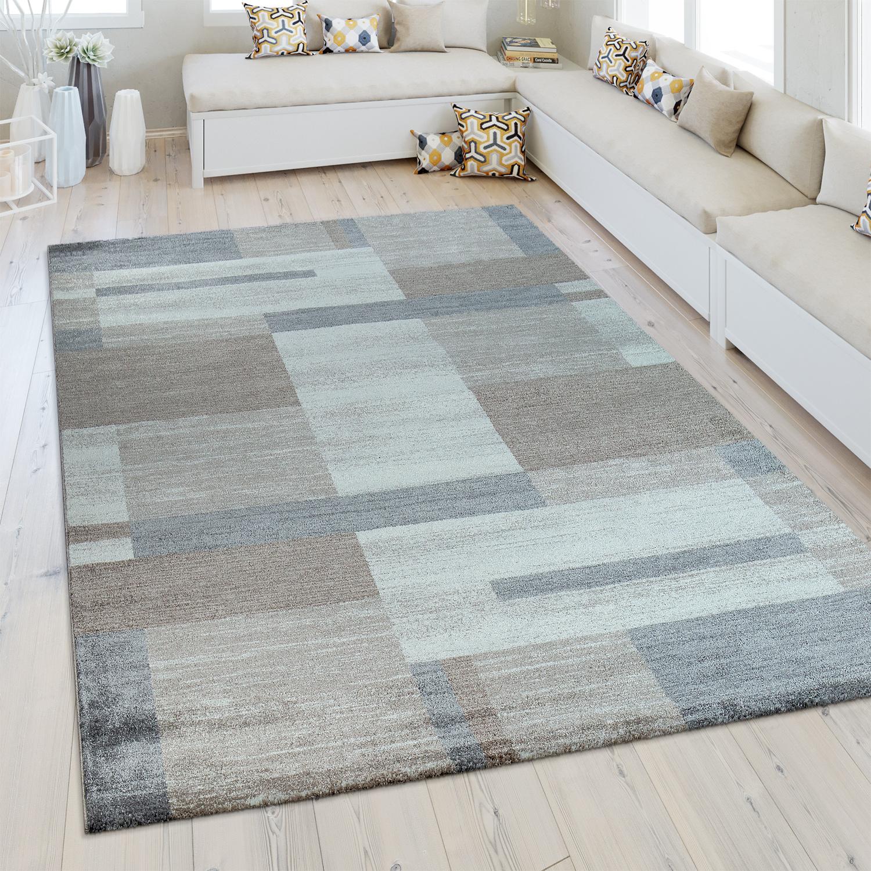 heatset teppich geometrisches muster silber grau - Teppich Geometrisches Muster