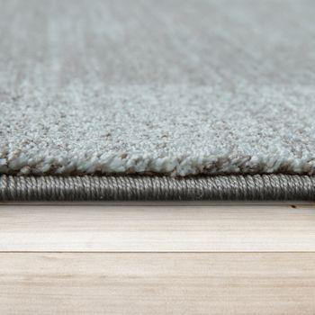 Heatset Teppich Geometrisches Muster Pastell Blau – Bild 2