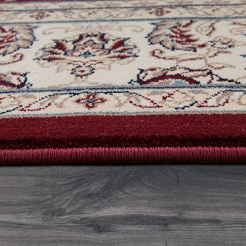 Orientteppich Bordüre Ornamente Creme Rot – Bild 2
