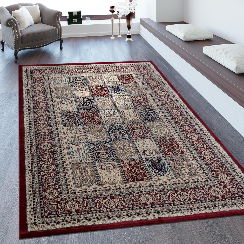 Orientteppich Bordüre Patchwork Muster Rot