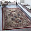 Orientteppich Bordüre Patchwork Muster Rot 001
