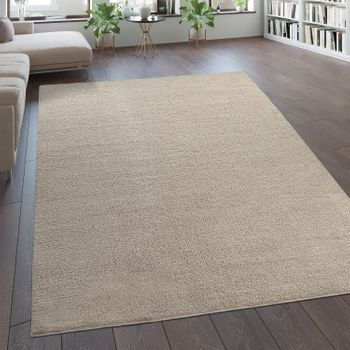 Deep Pile Rug Modern One Colour Beige