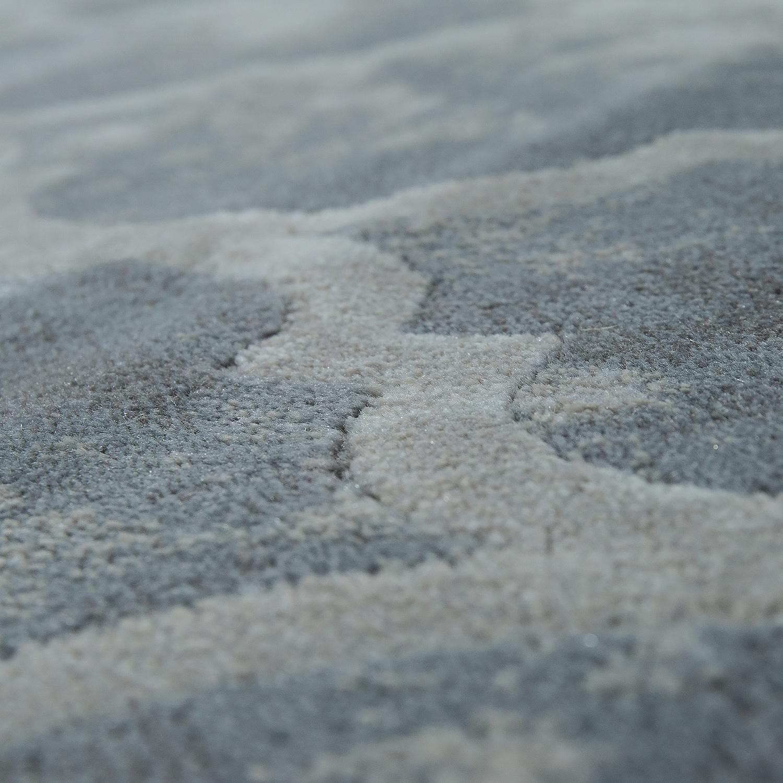 kurzflor teppich modern marokkanisches muster vintage style ombre look grau wei teppiche. Black Bedroom Furniture Sets. Home Design Ideas