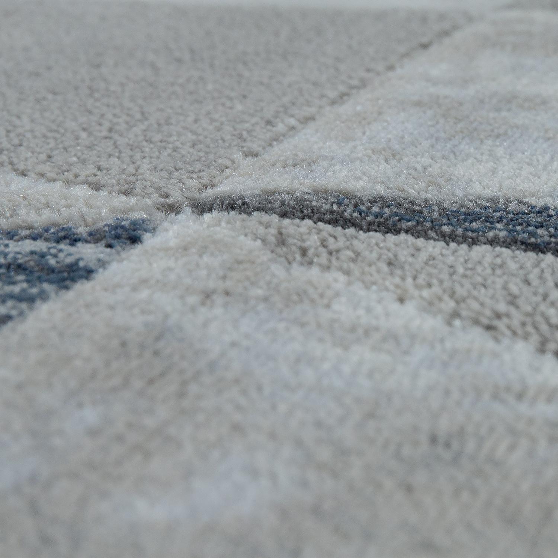 kurzflor teppich modern rauten muster vintage style ombre look grau blau teppiche kurzflor teppiche. Black Bedroom Furniture Sets. Home Design Ideas