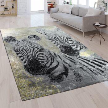 Designer Rug Zebra Silver Grey