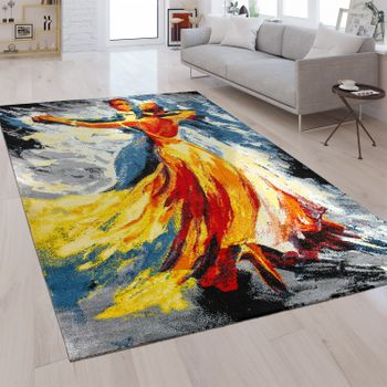 Designer Rug Dancing Couple Multicolour