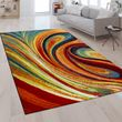 Designer Teppich Abstrakte Optik Multicolor 001