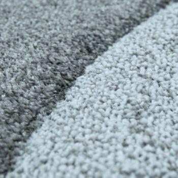 Modern Short Pile Rug Wave Pattern Silver  – Bild 3