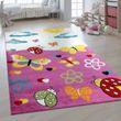 Children's Rug 3D Effect Butterfly World Pink 001