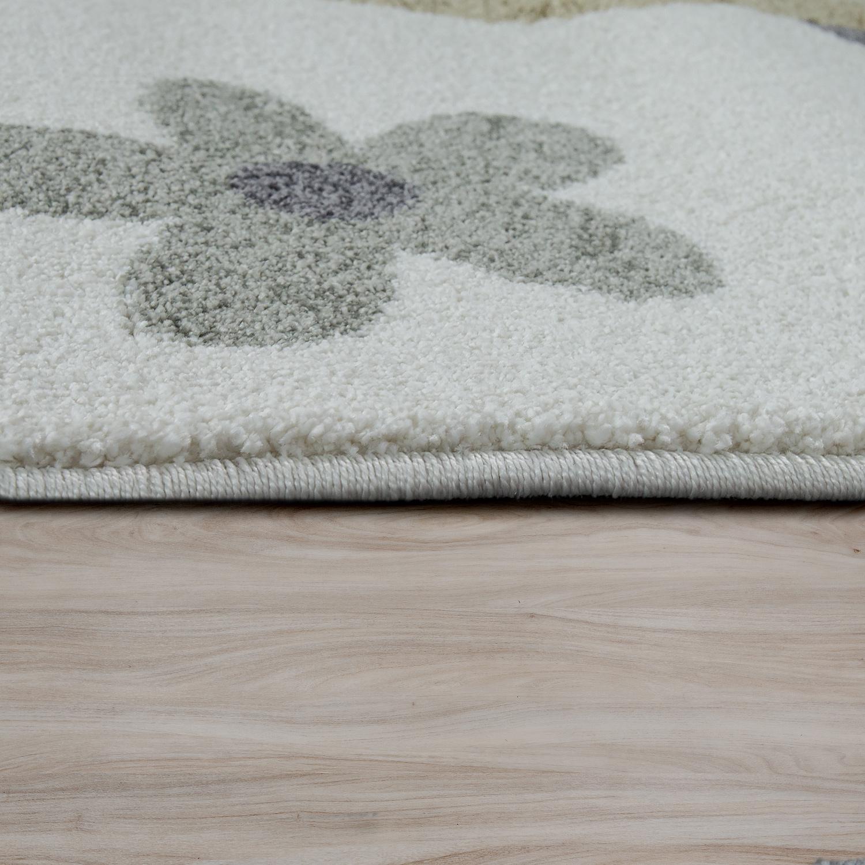 kinderteppich pastell trend vogel familie creme kinder teppiche. Black Bedroom Furniture Sets. Home Design Ideas