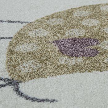 Kinderteppich Pastell Tier Motiv Creme – Bild 3