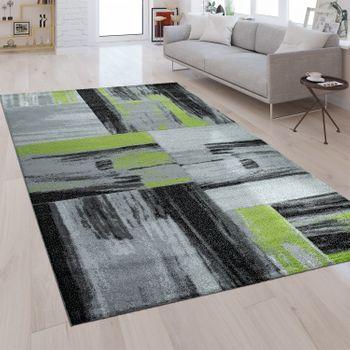 Moderner Kurzflorteppich Brush Style Grün – Bild 1