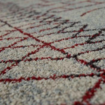 Heatset Teppich Berber Optik Rot – Bild 3