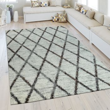Heatset Rug Diamond Pattern Cream