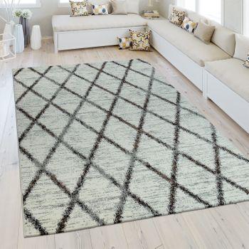 Heatset Teppich Rauten Muster Creme – Bild 1