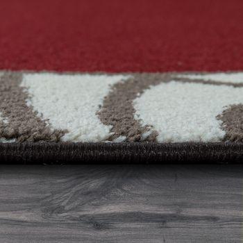 Kurzflorteppich Bordüre Rot – Bild 2