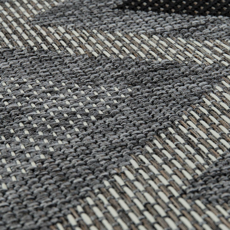 in outdoor teppich zick zack muster grau teppiche sisal optik. Black Bedroom Furniture Sets. Home Design Ideas